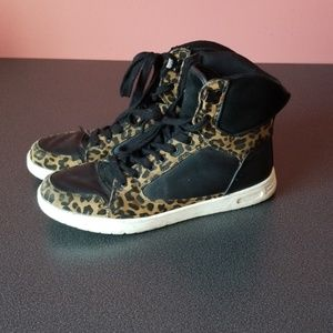 ASOS high top animal print sneakers size 10/8 UK